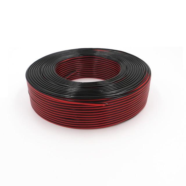 200 mt/Rolle RVB 2X0. 5mm2 Rot + Schwarz Flexible Draht Reinem ...