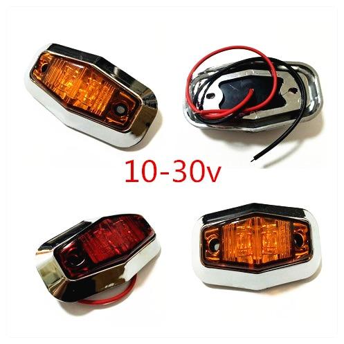 20X chrome 3 LED Side Markers Light Clearance Lamp 12v 24v Car Truck Trailer BUS Rear