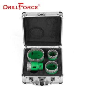 Image 2 - Drillforce 4 ADET Elmas Delik Testere Seti 35/40/50/68mm M14 Dayanıklı Carborundum Seramik M14 iplik Matkap Çekirdek