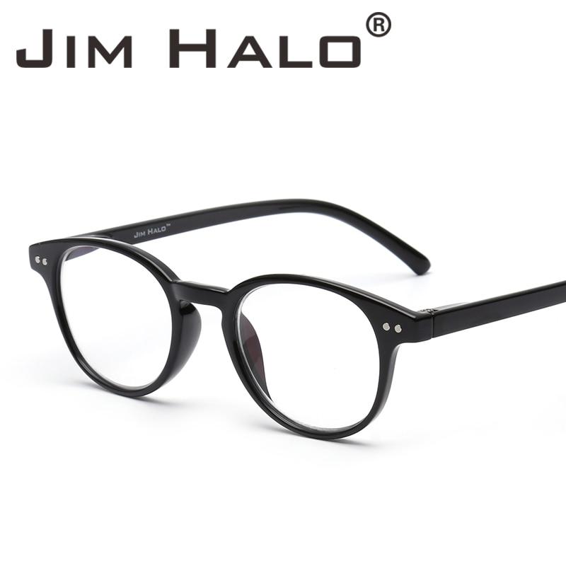 761cab508bc1 Jim Halo Anti Blue Light Retro Spring Hinge Round Computer Reading Glasses  Gaming Readers Reduce Eye Fatigue Eyeglasses