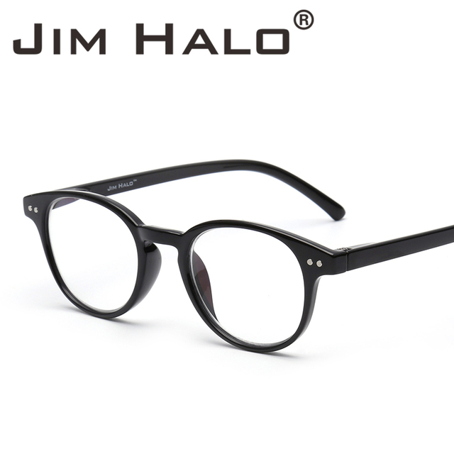 cd33847aa869f Jim Halo Anti Blue Light Retro Spring Hinge Round Computer Reading Glasses  Gaming Readers Reduce Eye Fatigue Eyeglasses