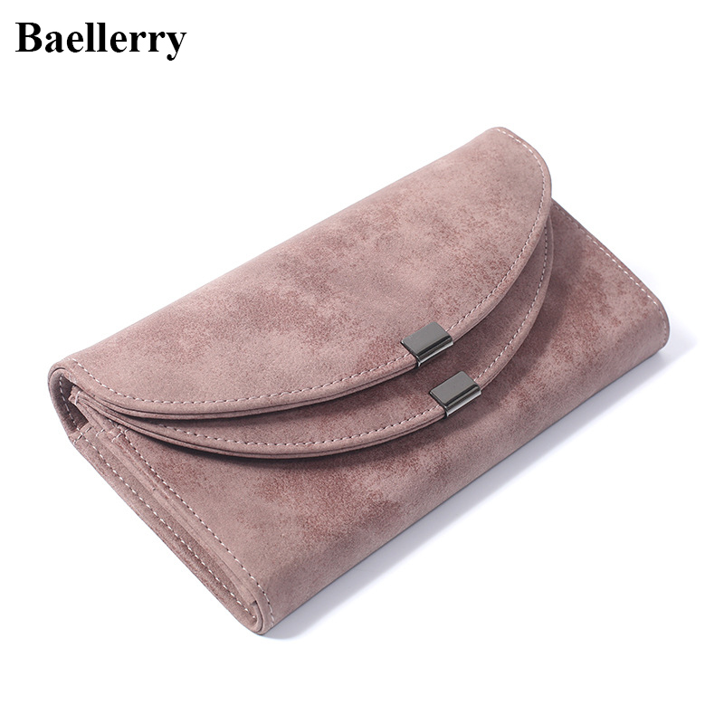 Luxury Brand Leather Women Wallets Solid Color Hasp Long Purses Money Bag Credit Cards Holder High Quality Clutch Wallets Ladies leather wallet women luxury brand womens wallets and purses bag long clutch bag embroidered designer high quality card holder 5