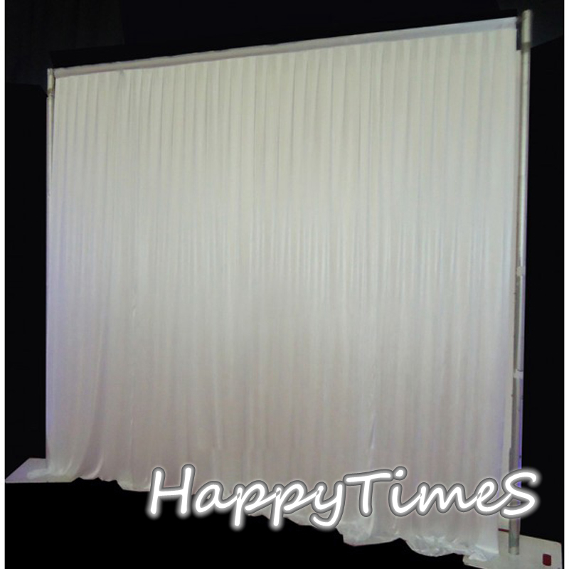 Γάμος 3 * 6 μ Λευκό φόντο Κουρτίνα Όμορφη εκδήλωση διακοσμητικά γεγονότα Ice Silk Fabric