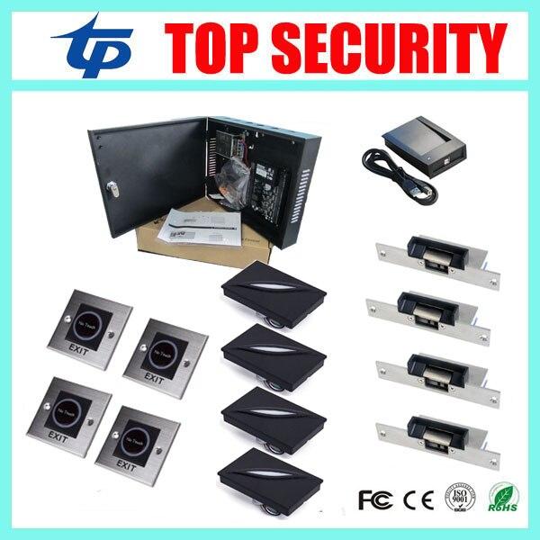 Tcp/ip 4 двери системы контроля доступа, смарт карты контроля доступа терминала C3 400 доступ к панели управления