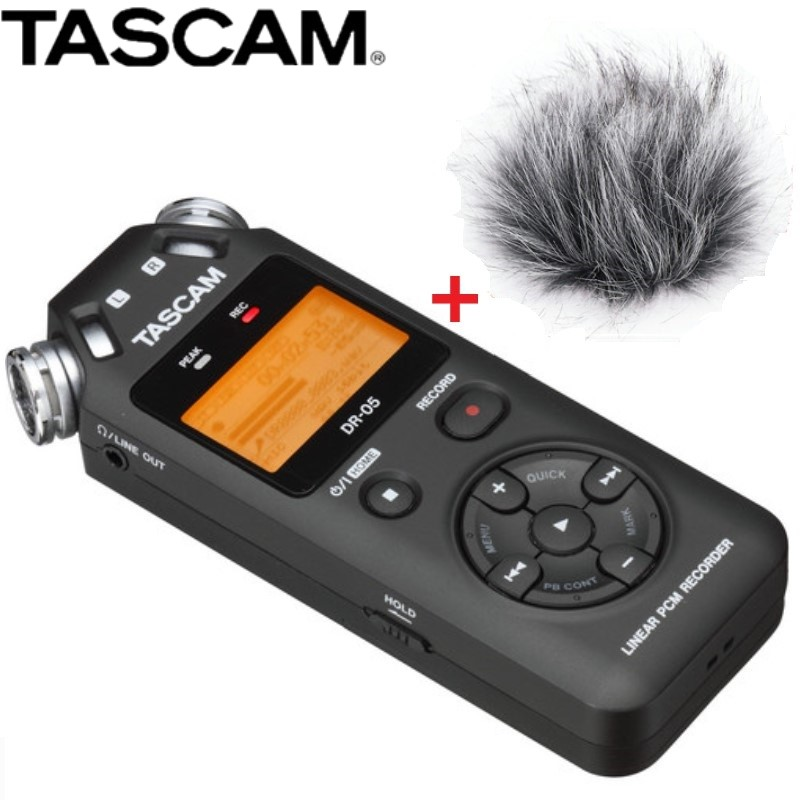 Tascam DR-05 dr05 Portable Handheld Digital Audio Recorder Black Version 2 with 8GB micro SD for musicians teachers journalists Tascam DR-05