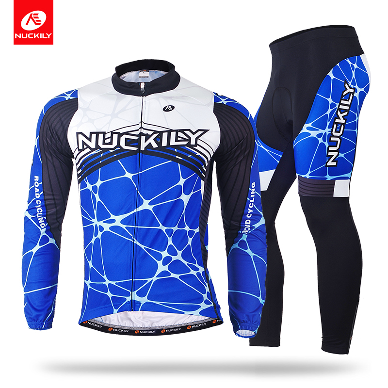 NUCKILY Winter Cycling Jersey Sets Warm Bicycle Apperal Thermal Long Sleeves Mens Sport Jersey And Tights Suit    ME018MF018 nuckily ny0917 cycling bicycle quick dry long sleeves thermal warm top black size m