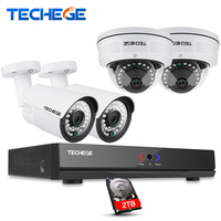4CH 1080P POE 48V Real NVR Kit 1080P HD Vandalproof Dome Camera 2 0MP POE IP