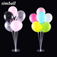 1set Clear Base Pole Balloon Stick DIY Wedding Decoration Latex Balloons Table Floating Balloon Supporting Rod Balloon Holder(China)