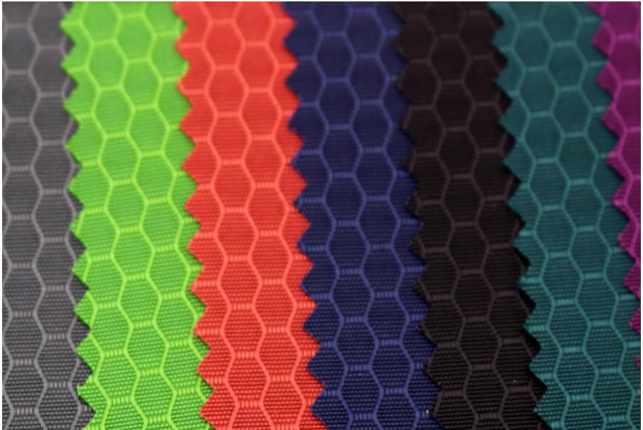 Strong 210D Hexagonal hive grid Nylon Oxford fabric,  waterproof nylon cloth, bags fabric, outdoor articles. hexagonal grid and wavelets in image processing