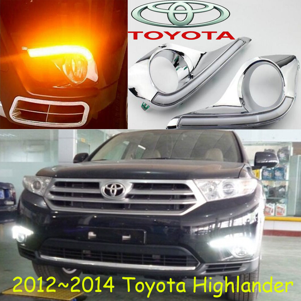 car-styling,2008~2011/2012~2014 highlander daytime light,led,2pcs/set,highlander fog light;car-covers,highlander,high lander car styling highlander daytime light 2012 2014 free ship led chrome 2pcs set highlander fog light car covers highlander