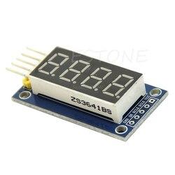 4 биты цифровой пробки светодиодный Дисплей модуль четыре серийный для 595 драйвер