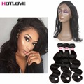 8a HOT Pre Plucked 360 Lace Frontal Closure Brazilian Virgin Hair Body Wave Natural Hairline Lace Frontal Closure With Baby Hair