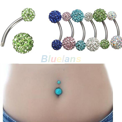 Navel Belly Button Bar Ring...