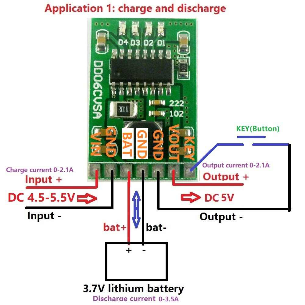 DC 5 V 2.1A panneau de bricolage de puissance Mobile 4.2 V Charge/décharge (boost)/protection de batterie/module indicateur 3.7 V lithium 18650 LI-ION