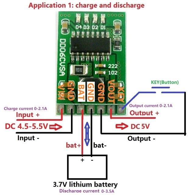 Dc 5 V 2 1a Mobile Strom Diy Bord 4 2 V Laden Entladen