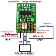 DC 5V 2.1A Mobile Power Diy Board 4.2V Charge/Discharge(boost)/battery protection/indicator module 3.7V lithium 18650 LI-ION(China)