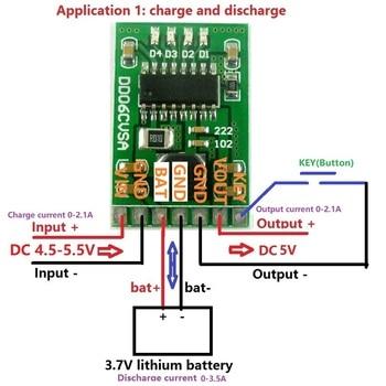 DC 5V 2.1A zasilanie mobilne Diy Board 4.2V ładowanie/rozładowanie (doładowanie)/ochrona baterii/moduł wskaźnika 3.7V litowo 18650 LI-ION
