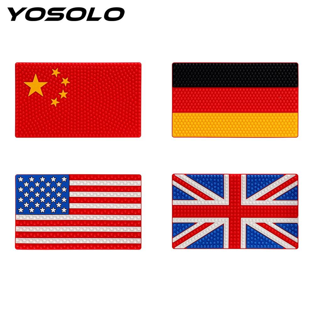 26*15.5 cm Anti Slip Mat China REINO UNIDO EUA Alemanha Bandeira Não-Slip Pad Pegajoso para o Telefone do carro GPS Moeda Chave Titular Auto Acessórios Interiores