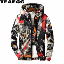 TEAEGG Plus Size 6XL 7XL Camouflage Warm Winter Coat Men Parkas Hombre Men Parka Cotton Padded Men's Winter Jacket Coats AL512