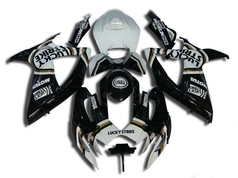 Hey-mold <font><b>Fairings</b></font> set for SUZUKI GSXR600 750 K6 06 07 <font><b>GSXR</b></font> <font><b>600</b></font> GSXR750 2006 <font><b>2007</b></font> ABS white black LUCKY <font><b>Fairing</b></font> <font><b>kit</b></font> image
