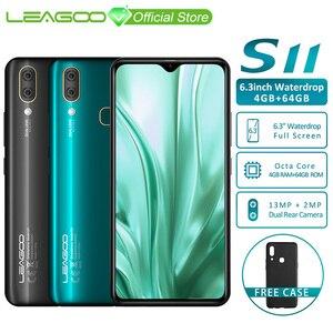 "Image 1 - LEAGOO S11 4GB 64GB Mobile Phone Android 9.0 6.3"" Waterdrop Display Helio P22 Octa Core 13MP Dual Camera Fingerprint Smartphone"