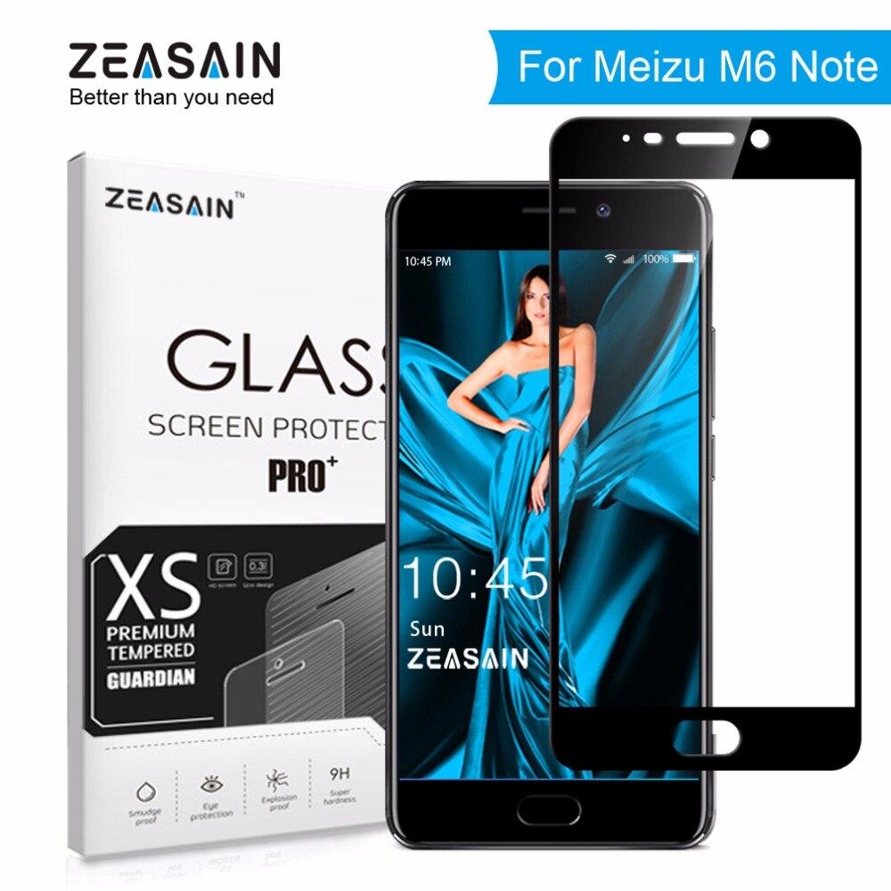 Zeasain protector de pantalla completa vidrio templado para meizu M6 nota meilan Nota 6 note6 5.5