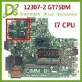 KEFU 12307-2 for dell Inspiron 3437 5437 laptop motherboard DOE40-HSW GDDR5 MB 12307-2 new motherboard i7 cpu GT750M