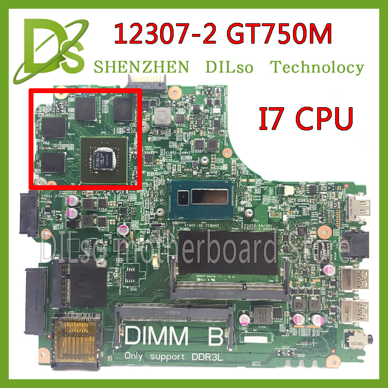 SHUOHU 12307-2 for dell Inspiron 3437 5437 laptop motherboard DOE40-HSW GDDR5 MB 12307-2 new motherboard i7 cpu GT750M ноутбук dell inspiron 3567