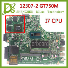 SHUOHU 12307-2 for dell Inspiron 3437 5437 laptop motherboard DOE40-HSW GDDR5 MB 12307-2 new motherboard i7 cpu GT750M(China)