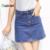 {Guoran} 2016 Verano Mujer Vaqueros Girls Una Línea de Faldas Azul Negro Azul Denim Jeans Faldas Cortas Mujer Señoras de la Alta Cintura de la vendimia