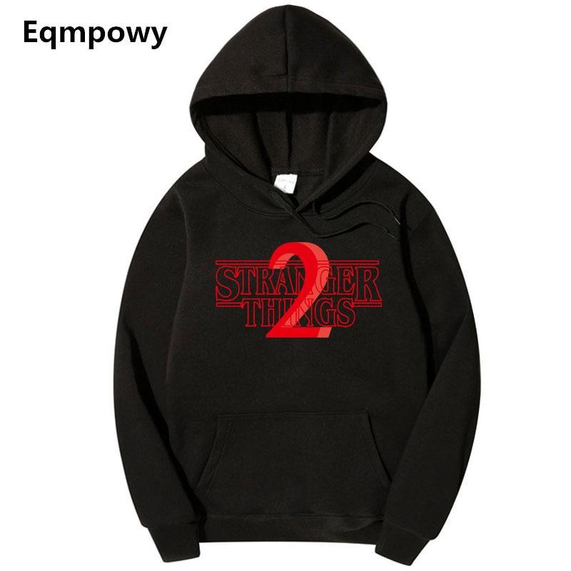 Eqmpowy Hoodies Stranger Things 2 Hooded Mens Hoodie Women Sweatshirts Oversized Autumn Winter Hip Hop Men Hoodies Sweatshirt