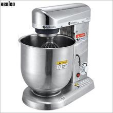 XEOLEO Planetary mixer Food mixer Bread dough mixer Commercial Dough kneading machine with Stainless Steel Bowl 500W 3-speed недорого