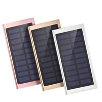 Wopow Solar Power Bank 20000 Mah Solar Panel External Battery Portable Charger For IPhone 8 Huawei