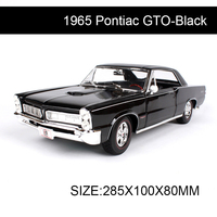 Maisto diecast Car 1965 Pontiac GTO Coupe Classic Cars Alloy Car Metal Vehicle Collectible Models toys For Gift Collection