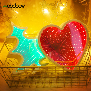 Woodpow Novelty Mirror Neon LED Strip Night Light Christmas Tree/Love Heart/Cloud Battery Power Table Lamp Light Home Decoration|Novelty Lighting|Lights & Lighting -