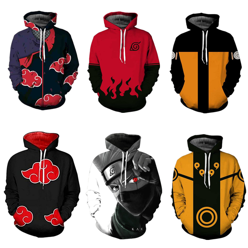 Naruto Kakashi Anime sweatshirts cosplay costume hoodies 3D classic Men Women hoodies Naruto clothing Top 2018 New