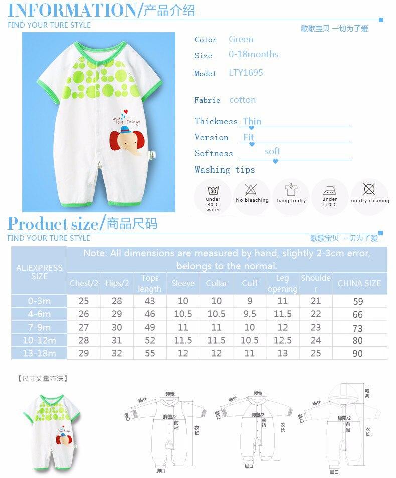 macacão de bebê recém-nascido menina infantil roupas de verãoinformações  sobre o produto e63145f5f335d