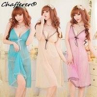 Chafferer gran tamaño de alta calidad lencería sexy caliente perspectiva malla lindo arnés pijamas para las mujeres Hot Erotic Ropa interior