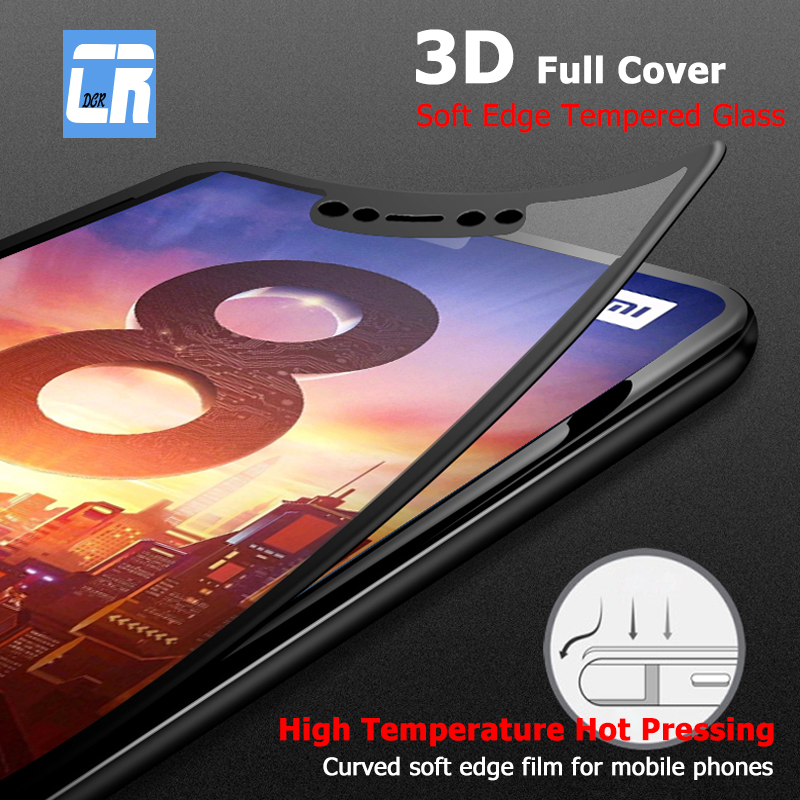 3D Full Cover Soft Edge Tempered Glass for Xiaomi 6X 8 8SE A2 Lite Screen Protector Film for Redmi S2 5 6 6A Pro Note 5 Plus 4X(China)