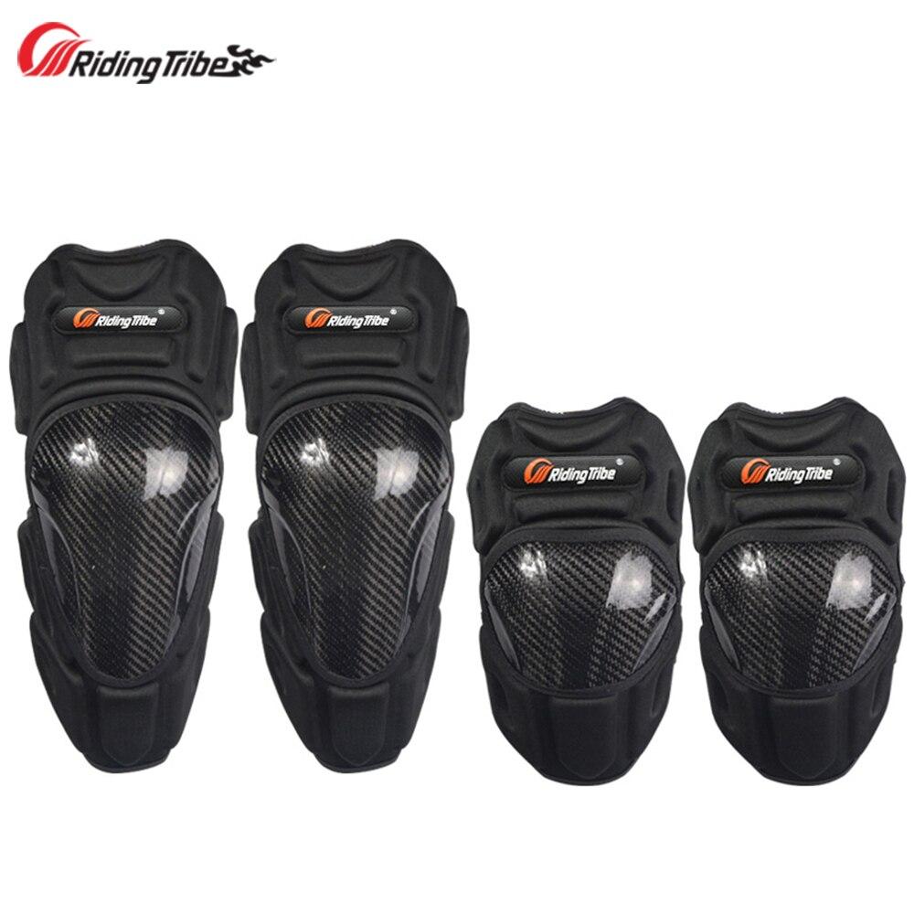 Moto genouillères coudières en Fiber de carbone Motocross course engrenages de protection moteur mains jambe protecteur équipement de protection