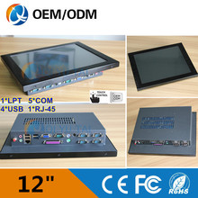 """12.1 """" industrial computer desktop pc touch screen Resolution 800×600 with 5*com Intel Celeron C1037U 1.8GHz all in one pc"""