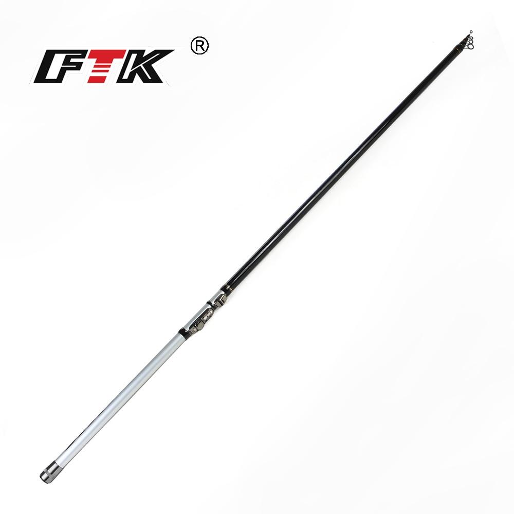 FTK 99% Carbon Rock Fishing Rod for 4M,5M,6M Superhard C.W. 10-30g Telescopic Sea and Lake Fishing Rod