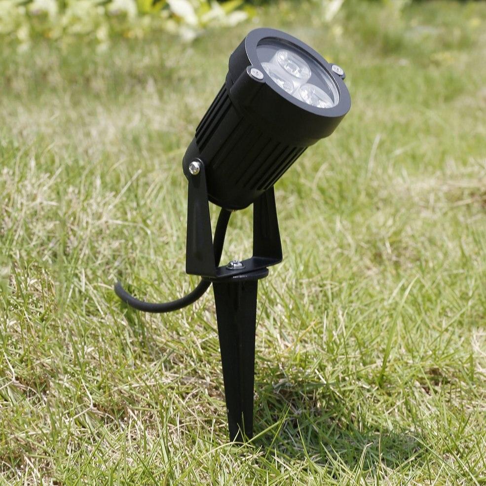 5 pcs 12V LED Spike Light Bulb Lamp Spotlight Outdoor Garden Yard Path Landscape Green цена