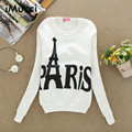 Paris Letter Tower Print Hoodies Women Autumn Winter New Thicker Long Sleeve Sweatshirt Women Casual Women Hoodies Sweatshirts