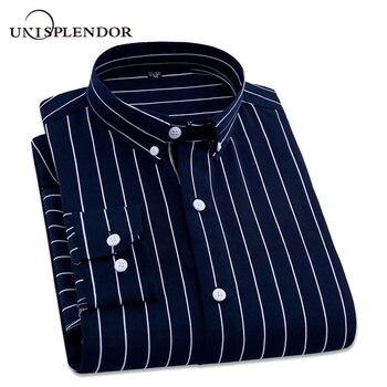 05bf574284 2019 casuales de los hombres de manga larga camisa a rayas Slim Fit Hombre  Negocio Social vestido camisa de hombre de marca cómodo suave camisas  YN10322