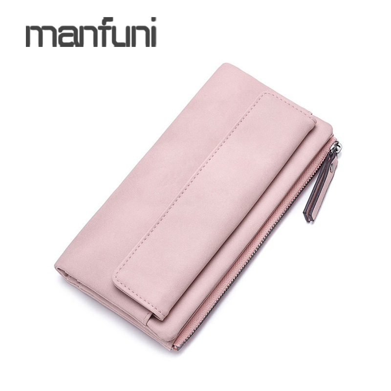 862fe88dd16 US $7.84 30% OFF|Women Clutch Wallet Leather Long Phone Wallets For Womens  Card Holder Bifold Money Bag Ladies Big Wallets Purse Pink Portafogli-in ...