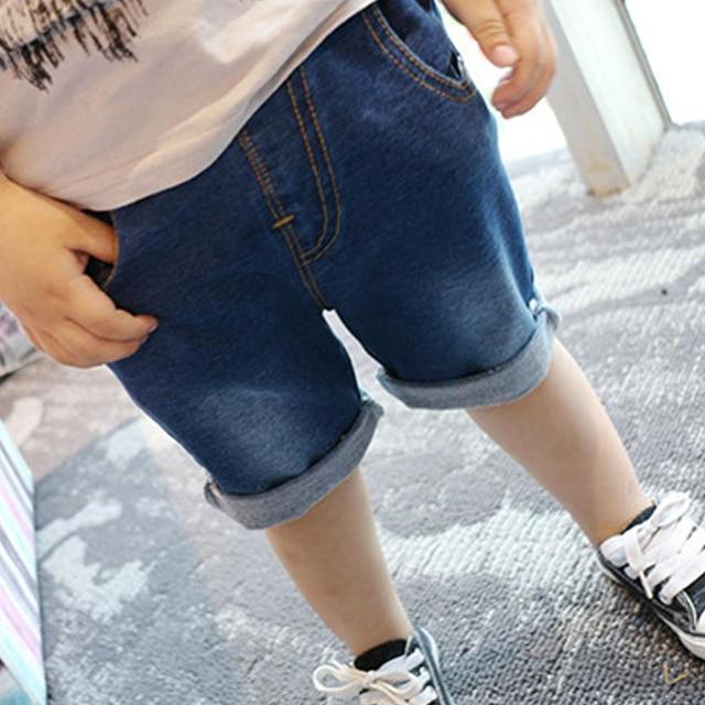 PUYO 18M-6Y Summer/Spring Boy Jeans Shorts Pant Children Candy Color High Waist Pocket Jeans Children Denim Trousers LM20