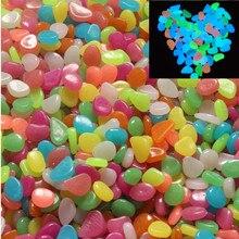 Colorful Artificial Luminous Stones 50pcs Garden Pebbles Night Run Club Party Fun Fish Aquarium Flower Vase decoration Glow Toy