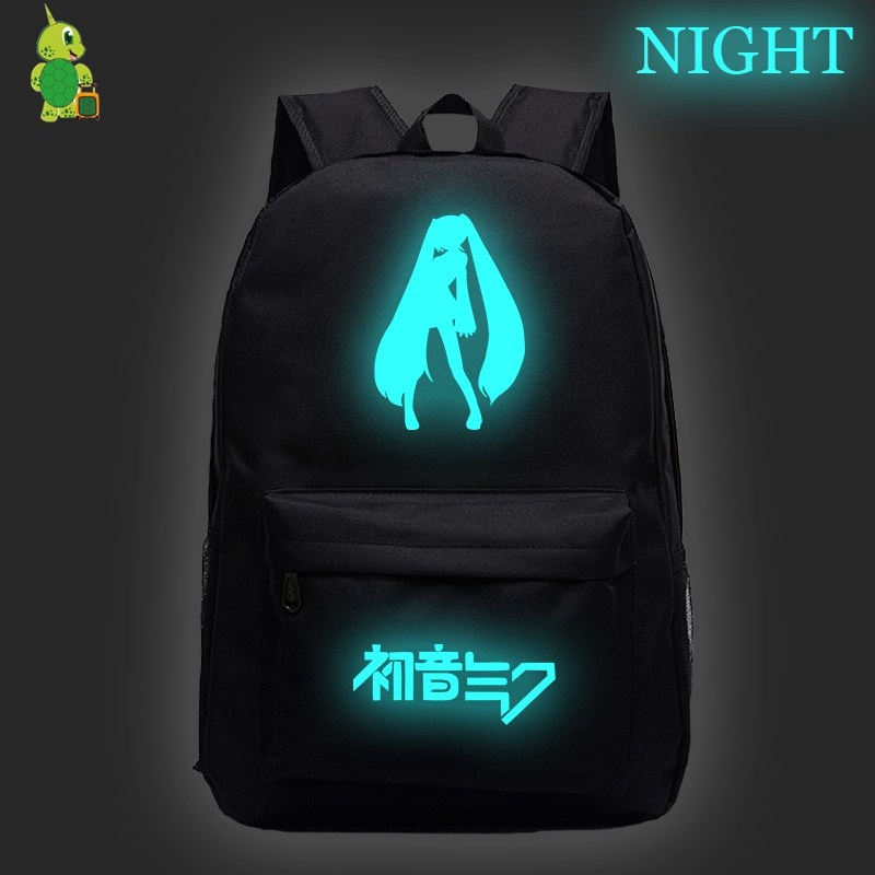 Anime Hatsune Miku Backpack School Bags For Teenage Girls Boys Casual Travel Bags Kids Book Bags Fashion Laptop Backpack