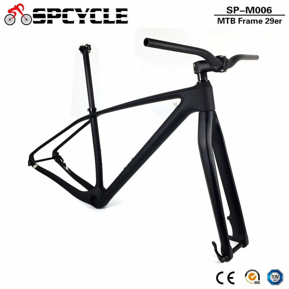 Spcycle T1000 Full Carbon MTB <font><b>Bicycle</b></font> Frameset 27.5er 29er Mountain Bike Carbon <font><b>Frame</b></font>+ Fork+ Seaptost+ Stem+ Handlebar <font><b>Set</b></font> image
